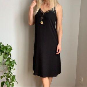Aritzia Babaton black slip dress XS